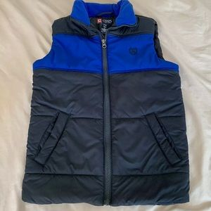 CHAPS youth boy puffer quilted vest size small (8)